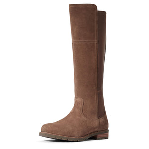 Women's Ariat Sutton Waterproof Country Boot in Taupe from the front