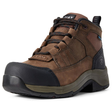 Women's Ariat Telluride Work Waterproof Composite Toe Work Boot in Distressed Brown