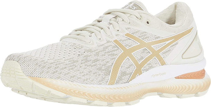 Women's Asics Gel Nimbus 22 Knit Running Shoe In Birch Champagne