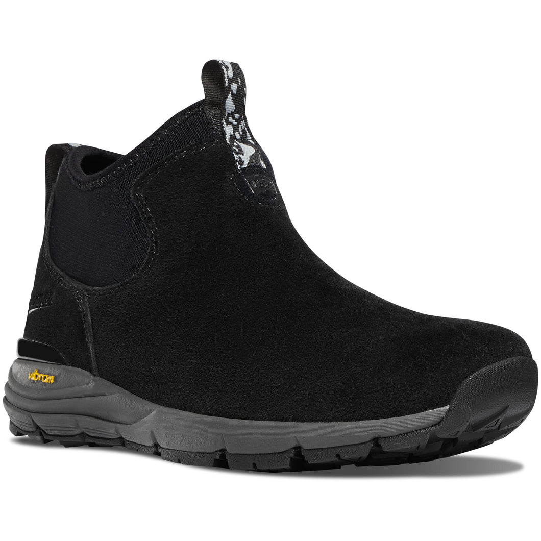 Danner Women's Mountain 600 Chelsea Lifestyle Boot in Jet Black from the side