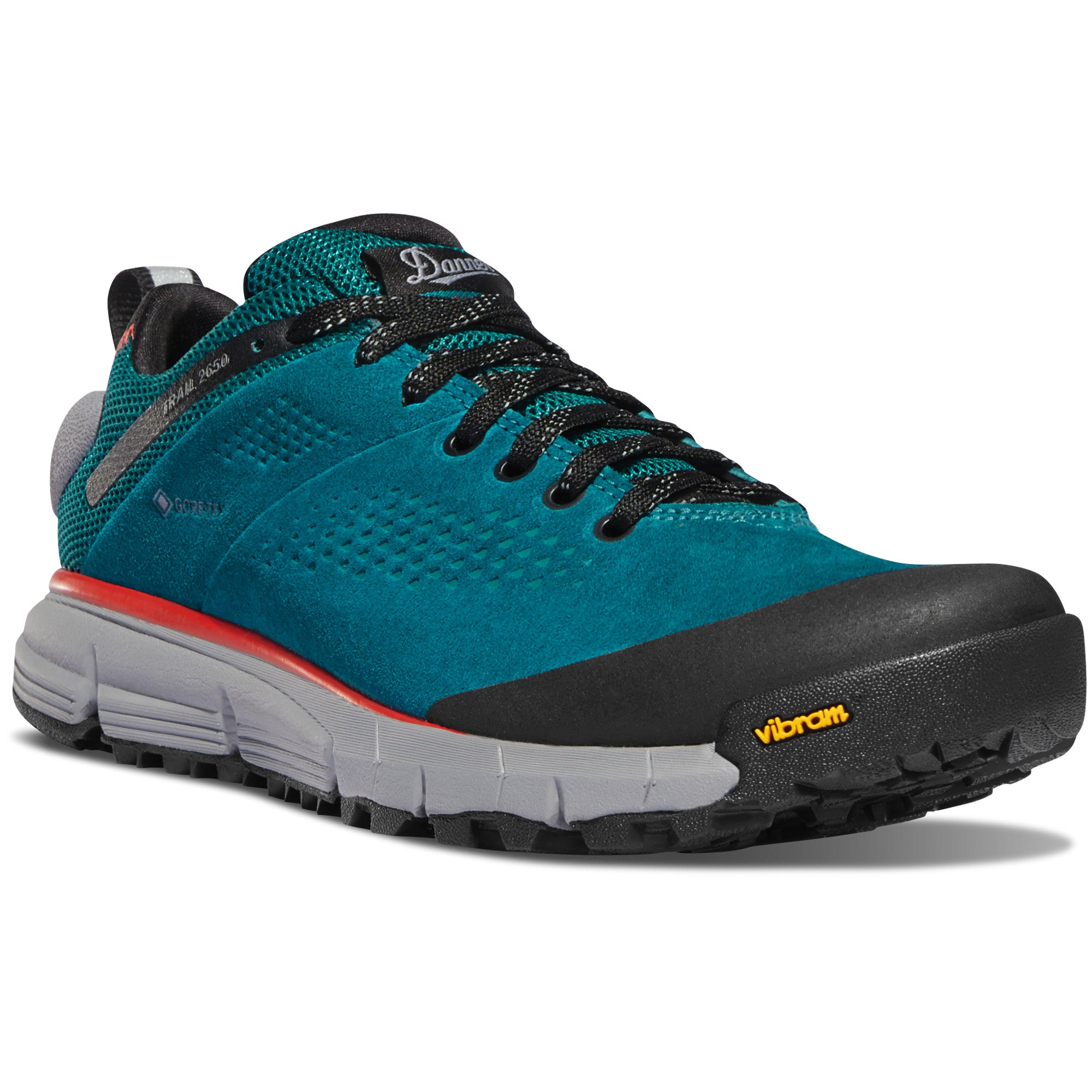 "Danner Women's Trail 2650 3"" Gore-Tex Waterproof Hiking Shoe in Current Blue from the side"
