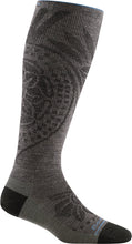 Load image into Gallery viewer, Women's Darn Tough Chakra Knee High Graduated Light Compression Sock in Taupe from the side view