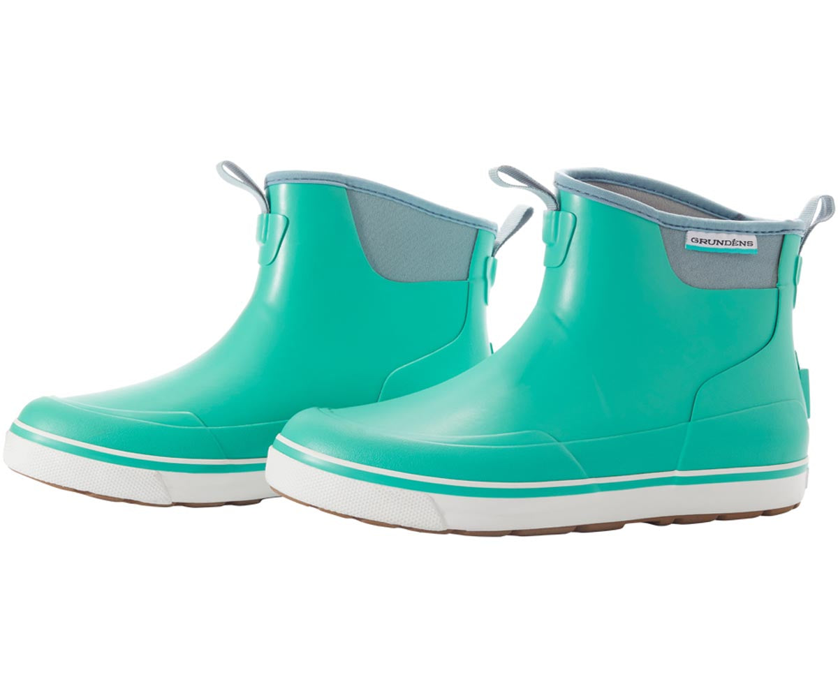 Pair of Women's Deck Boss Ankle Boot in Bermuda from the side view