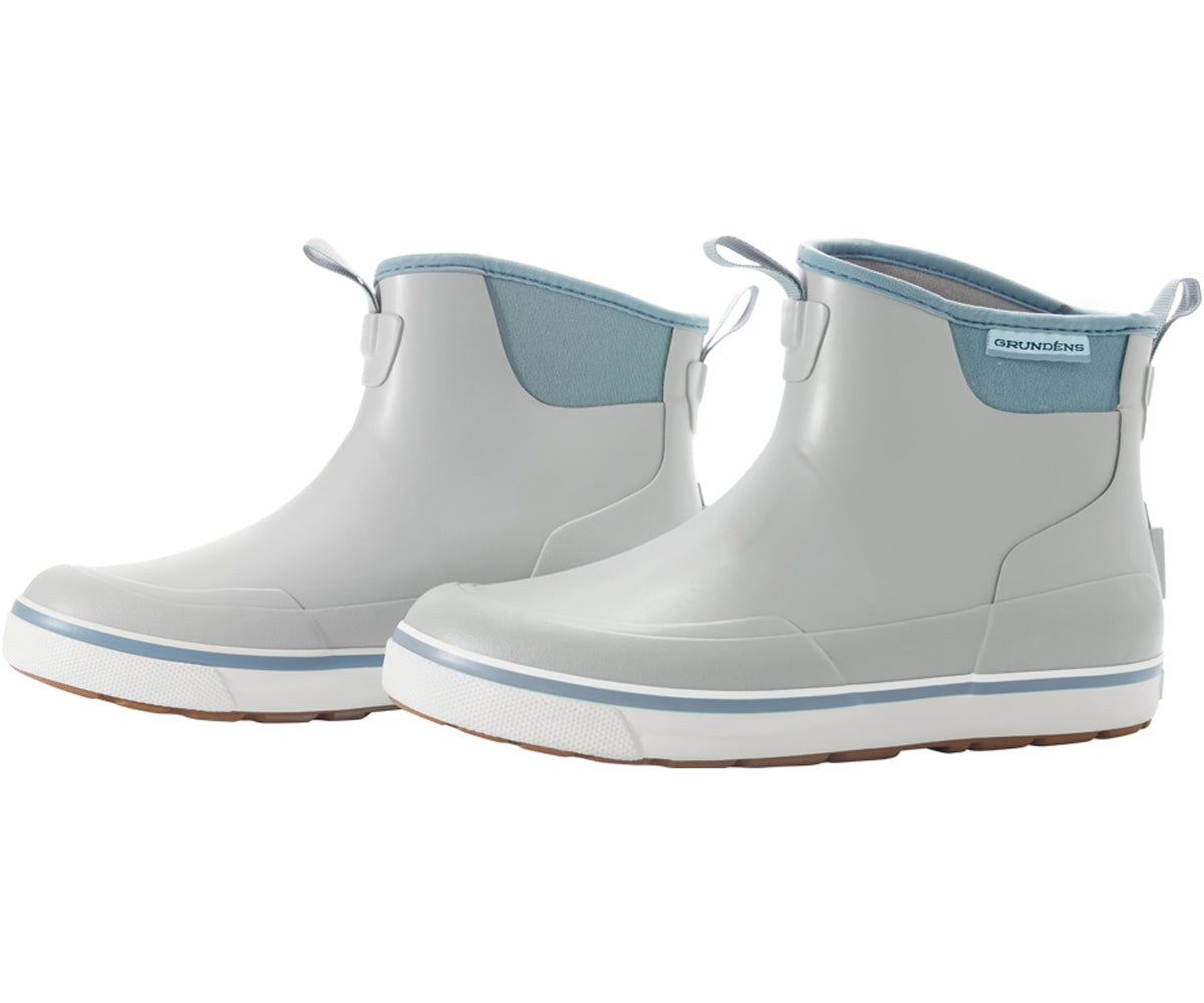 Pair of Women's Deck Boss Ankle Boot in Surf from the side view