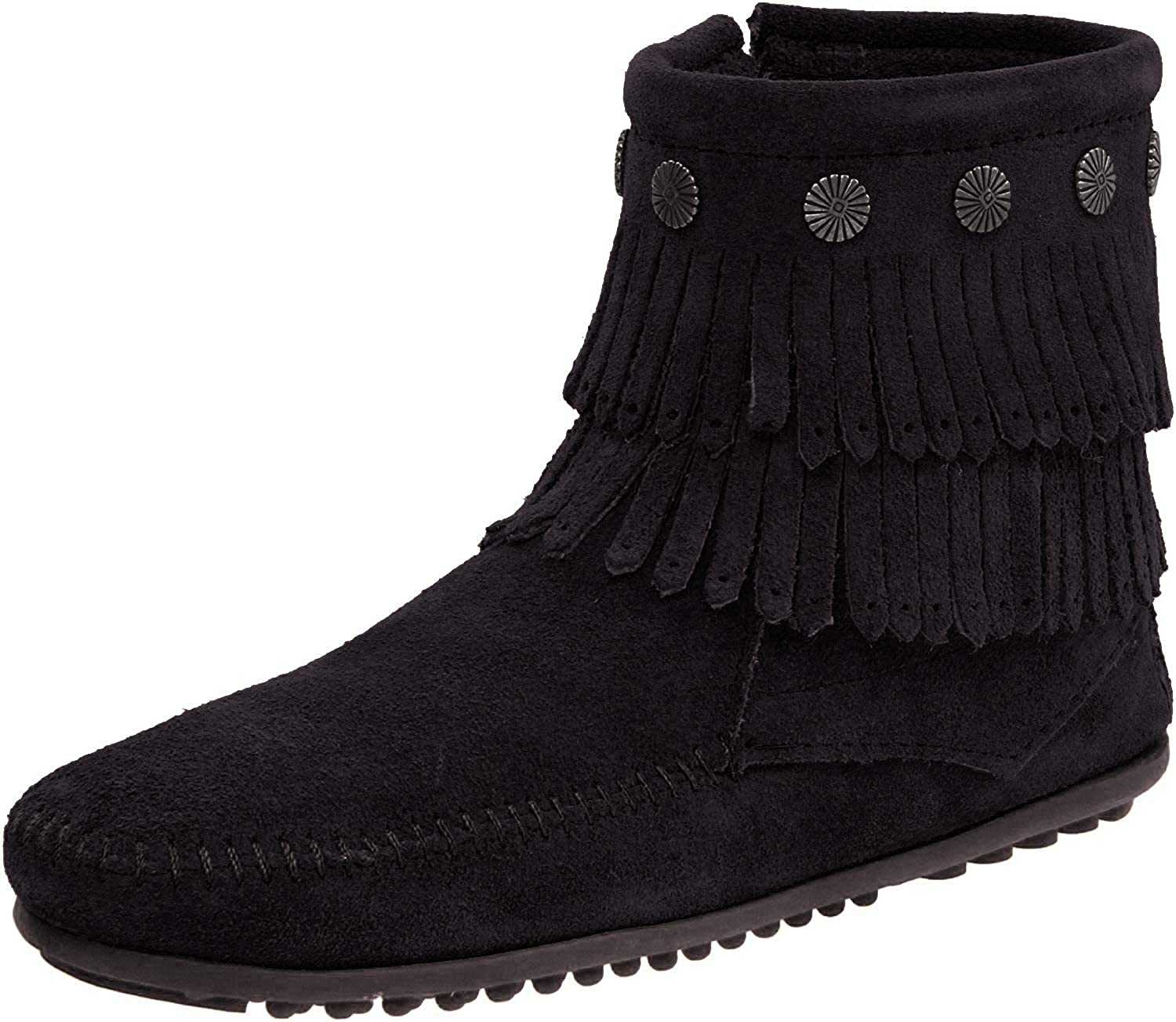 Women's Minnetonka Double Fringe Side in Black