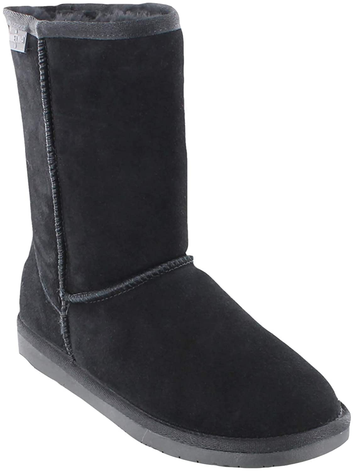 Women's Minnetonka Olympia Short Boot Black in Black
