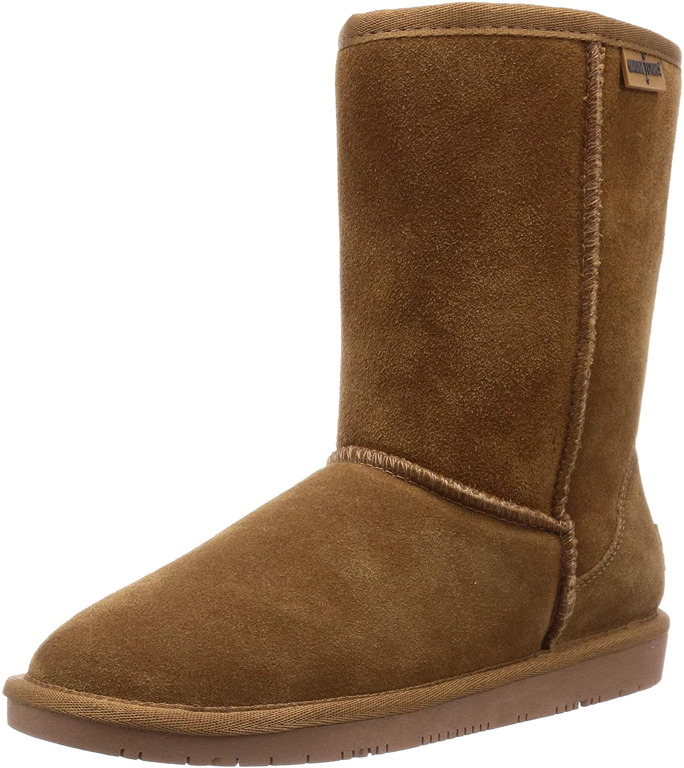 Women's Minnetonka Olympia Short Boot Tan in Tan