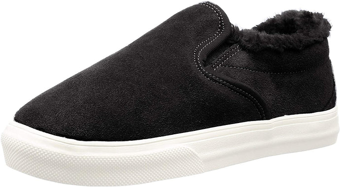 Women's Minnetonka Wilder Slip-On Sneaker in Black from the front view
