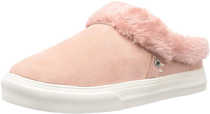 Women's Minnetonka Windy Slip-On Sneaker in Blush from the front view