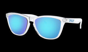 Women's Oakley Frogskins (Asia Fit) Sunglasses in Crystal Clear Prizm Sapphire