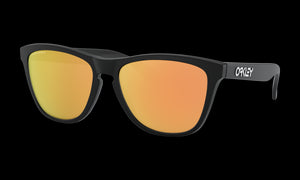 Women's Oakley Frogskins (Asia Fit) Sunglasses in Matte Black Prizm Rose Gold
