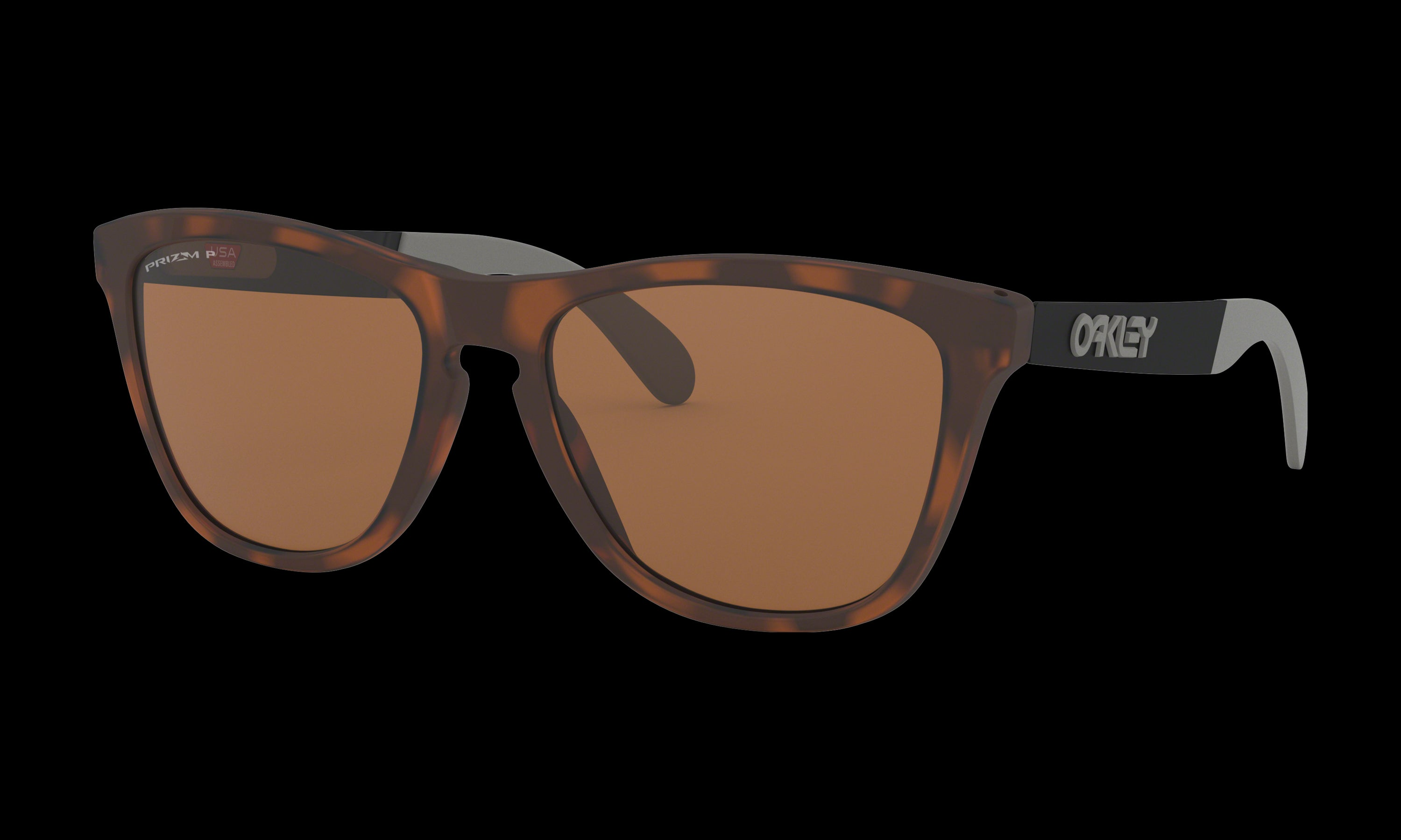 Women's Oakley Frogskins Mix Sunglasses in Matte Brown Tortoise Prizm Tungsten Polarized