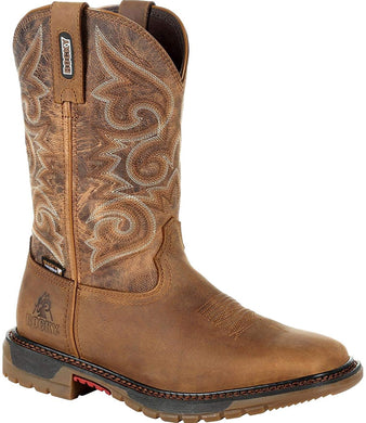 Women's Rocky Original Ride FLX Women's Waterproof Western Boot in Brown
