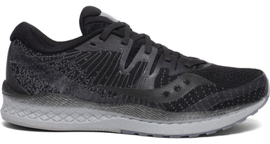 Saucony Women's Liberty Iso 2 Running Shoe in Blackout from the side