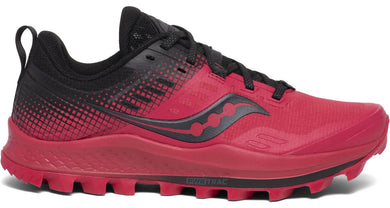 Women's Saucony Peregrine 10 ST Trail Running Shoe Barberry/Black