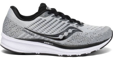 Saucony Women's Ride 13 Running Shoe in Alloy/Black from the side