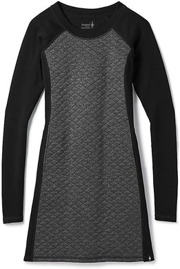Women's Smartwool Diamond Peak Quilted Dress in Black Heather