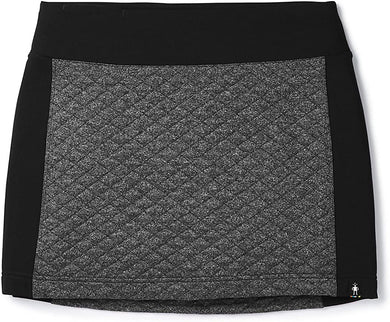 Women's Smartwool Diamond Peak Quilted Skirt in Black Heather