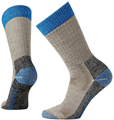 Women's Smartwool Hunt Heavy Crew Socks in Taupe from the front view