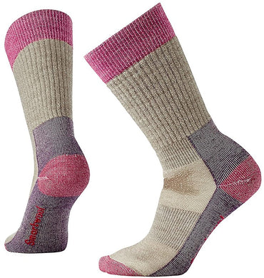 Women's Smartwool Hunt Medium Crew Socks in Fossil from the front view