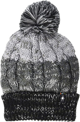 Women's Smartwool Isto Retro Beanie in Black-Medium Gray Heather
