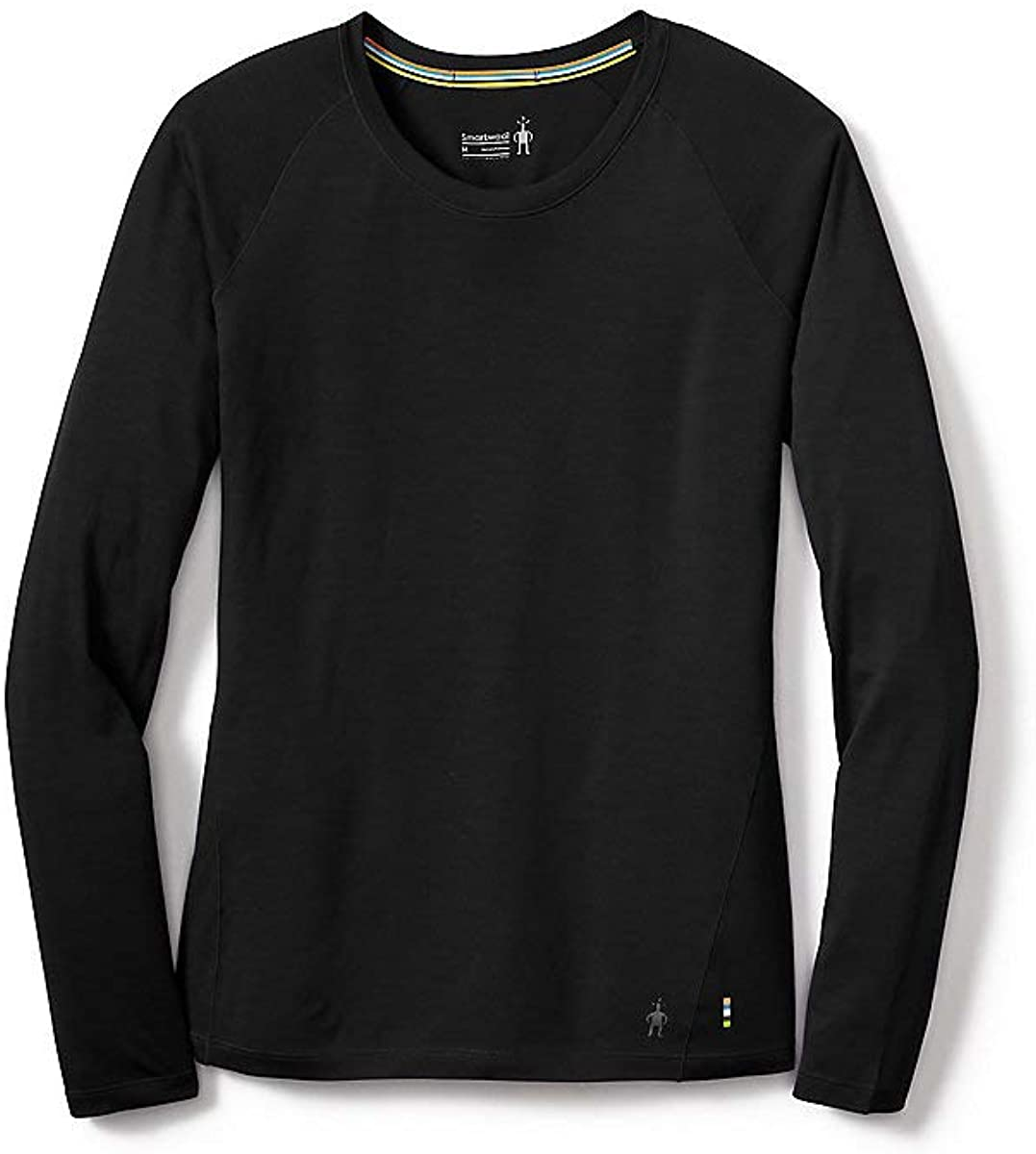 Women's Smartwool Merino 150 Base Layer Long Sleeve in Black from the side view