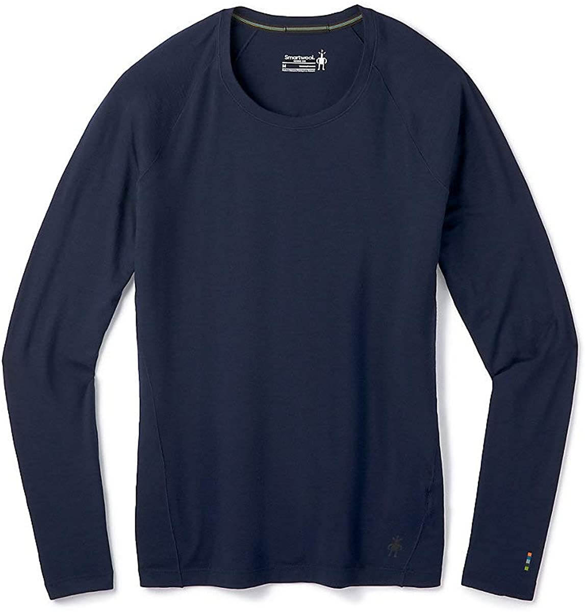 Women's Smartwool Merino 150 Base Layer Long Sleeve in Deep Navy from the side view