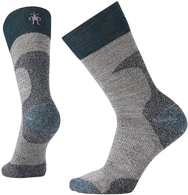 Women's Smartwool PhD Hunt Light Crew Socks in Medium Gray from the front view