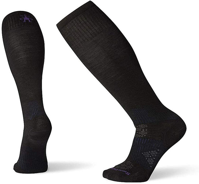 Women's Smartwool Phd Ski Ultra Light Sock Black from the side view