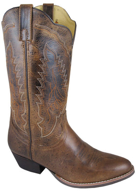 Women's Smoky Mountain Amelia Western Boot in Brown Distress