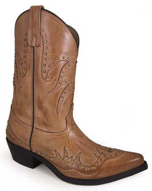 Women's Smoky Mountain Willow Leather Boot in Bomber Tan
