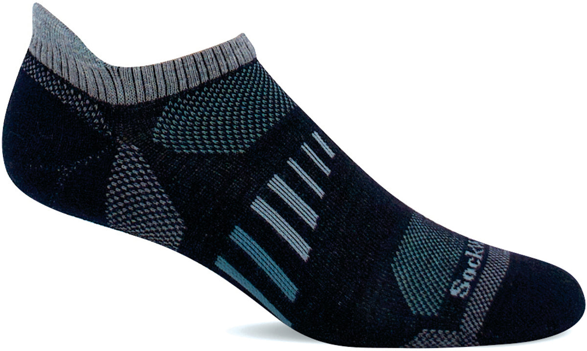 Women's Sockwell Ascend II Micro Moderate Compression Sock in Navy from the front view