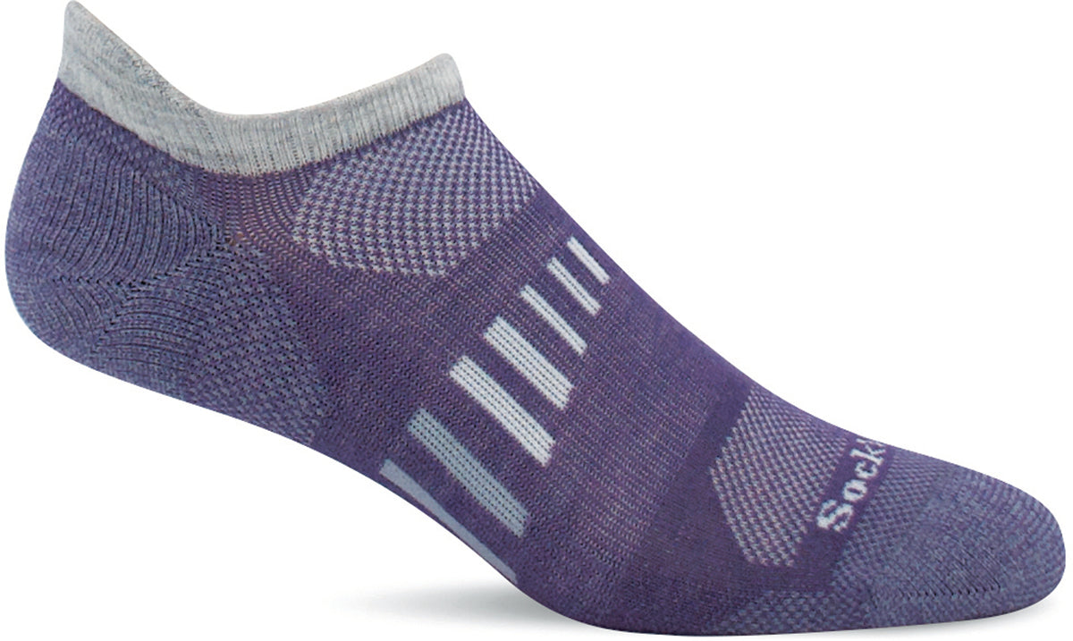 Women's Sockwell Ascend II Micro Moderate Compression Sock in Plum from the front view
