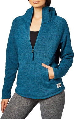 Women's The North Face Crescent Hooded Pullover Hoodie in Blue Coral Heather