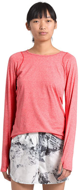 Women's The North Face Essential Long-Sleeve Tee in Cayenne Red Heather