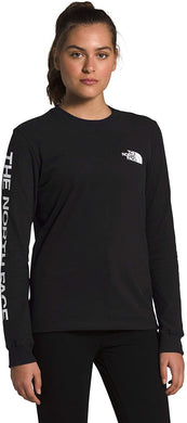 Women's The North Face Long-Sleeve Brand Proud Tee Tee in TNF Black/TNF White