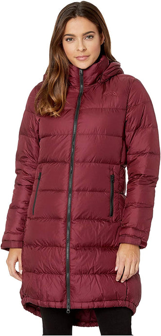 Women's The North Face Metropolis Parka III in Deep Garnet Red