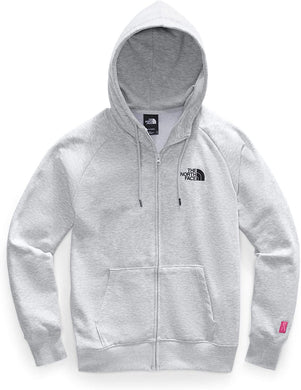 Women's The North Face Pink Ribbon Half Dome Full Zip Hoodie in TNF LIGHT GREY HEATHER