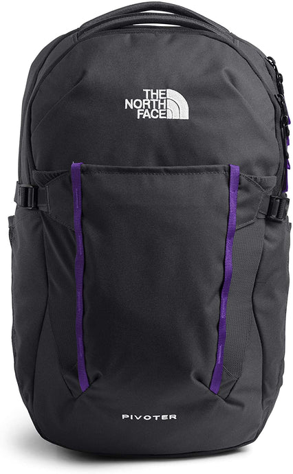Women's The North Face Pivoter Backpack in Asphalt Grey/Peak Purple