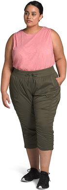 Women's The North Face Plus Aphrodite 2.0 Capri Pant in New Taupe Green