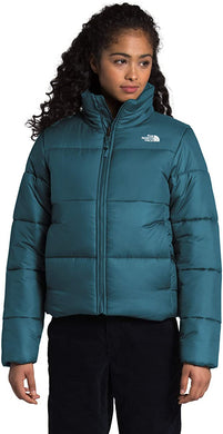 Women's The North Face Saikuru Down Jacket in Mallard Blue from the front