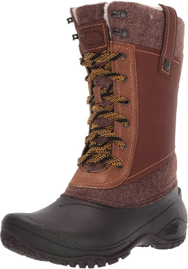 Women's The North Face Shellista III Mid Boot in Demitasse Brown/Carafe Brown