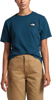 Women's The North Face Short-Sleeve Box Tee Tee in Blue Wing Teal