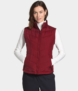 Women's The North Face Tamburello 2 Vest in Pomegranate from the front