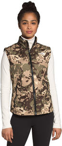 Women's The North Face Tamburello 2 Vest in Burnt Olive Green Digi Topo Print from the front
