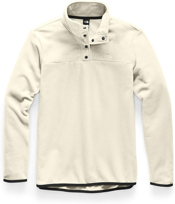 Women's The North Face Tka Glacier Snap-Neck Pullover in Vintage White/Vintage White from the front