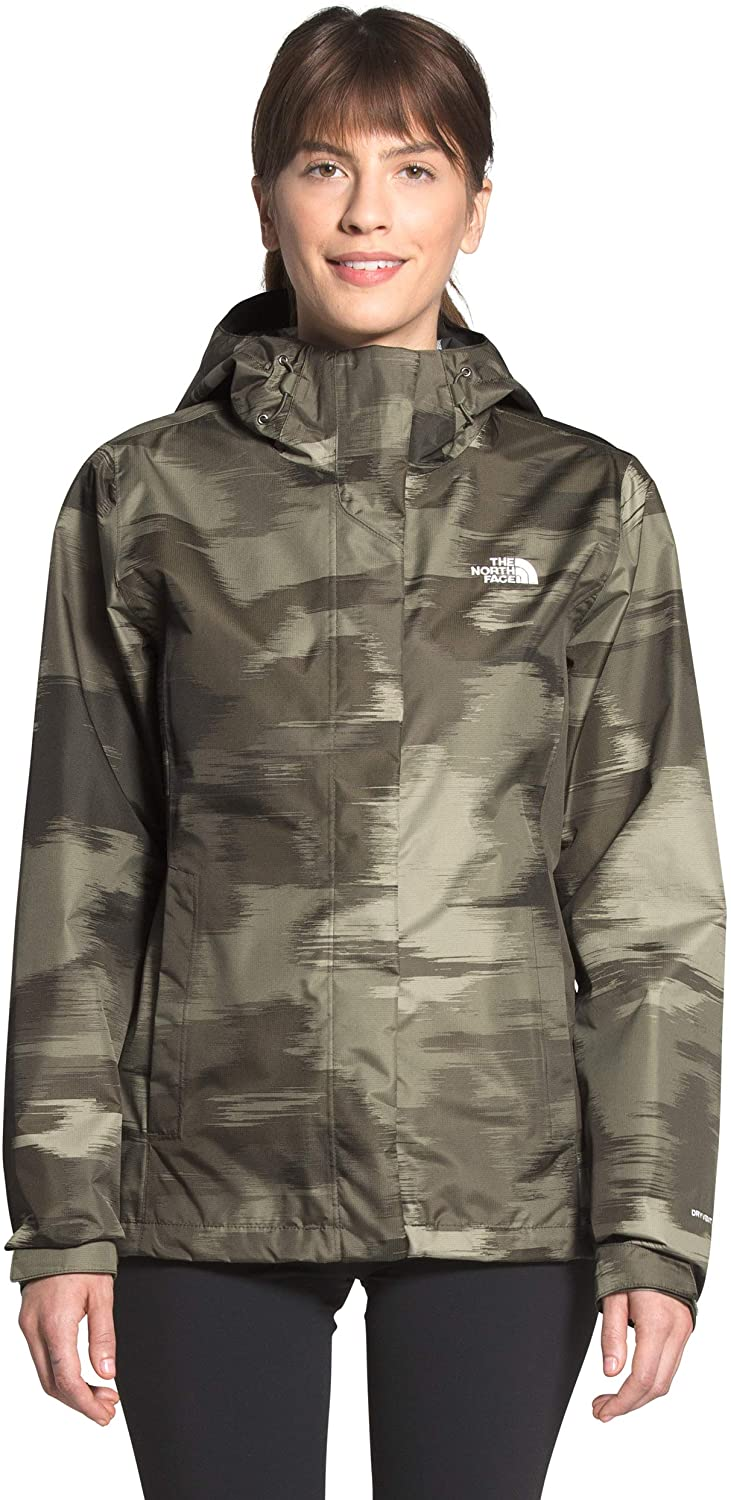 Womens The North Face Venture 2 Jacket New Taupe Green Vapor Ikat Print