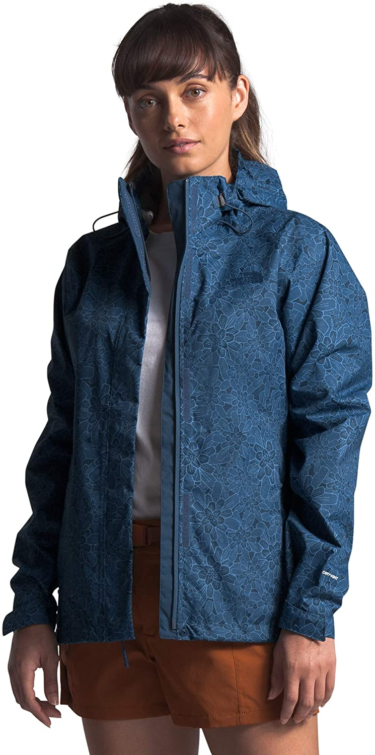 Womens The North Face Venture 2 Jacket Shady Blue Floral Block Print