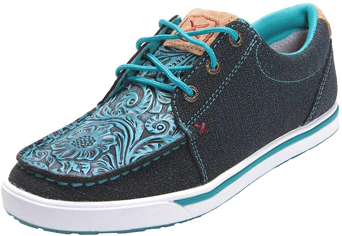 Women's Twisted X Casual Kicks Shoe in Dark Teal & Teal from the front