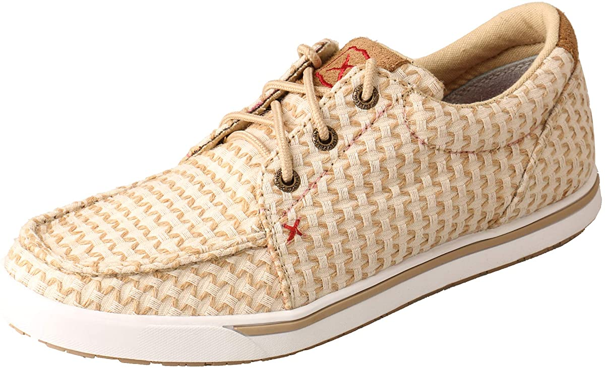 Women's Twisted X Casual Kicks Shoe in Sand Shell Tweed from the front